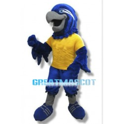 Plush Blue Hawk Mascot Adult Costume