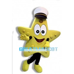 Star Line Skipper The Starfish Mascot Adult Cartoon Costume