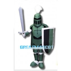 Green Knight Mascot Costume