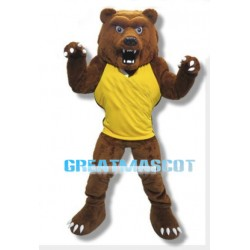 Fierce Brown Power Bear Mascot Adult Costume