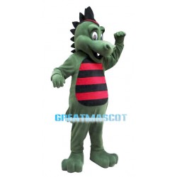 Fantasy Green Dragon Mascot Adult Costume