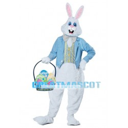 Easter Bunny Mascot Adult Costume With Surprise Eggs