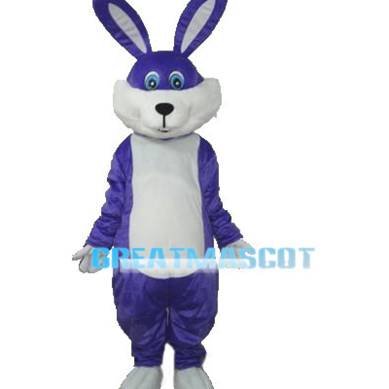 Purple Easter Bunny Mascot Adult Costume