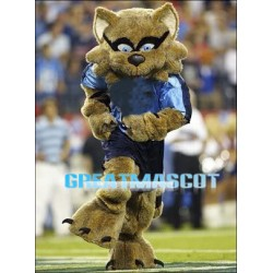 College Football Brown Raccoon Mascot Adult Costume