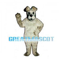White Dog Mascot Adult Costume