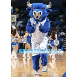 University Power Blue Bull Mascot Adult Costume