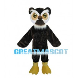 Old Black Owl Mascot Adult Costume