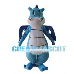 Blue Flying Dinosaur Mascot Adult Costume