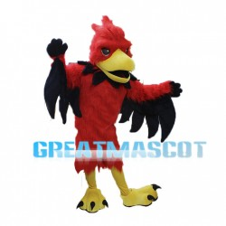 Red Phoenix Mascot Adult Costume
