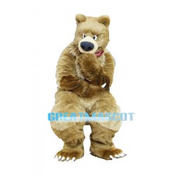 Grizzly Bear Mascot Adult Costume