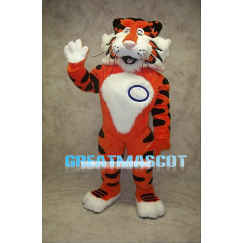 Furry Tiger Mascot Adult Costume