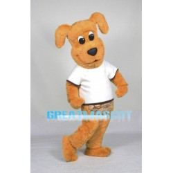 Plush Yellow Dog Mascot Adult Costume