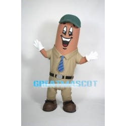 Cartoon Sausage Mascot Adult Costume