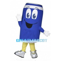 Cartoon Blue Can Lightweight Mascot Adult Costume