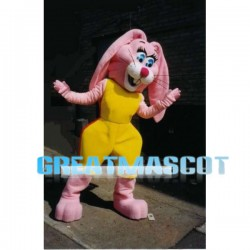 Beautiful Pink Rabbit Mascot Adult Costume