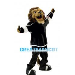 Ice Hockey Lion Mascot Adult Costume