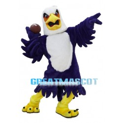 Sport Purple Bald Eagle Mascot Adult Costume