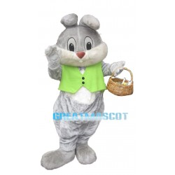 Cute Easter Bunny Mascot Adult Costume