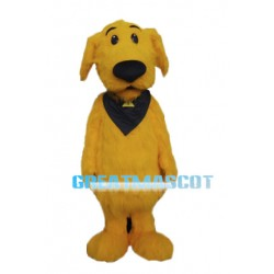 Long Fur Yellow Dog Mascot Adult Costume