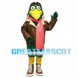 Green Bird The Pilot Mascot Adult Costume