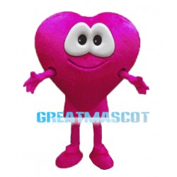 Deluxe Cartoon Pink Heart Mascot Costume