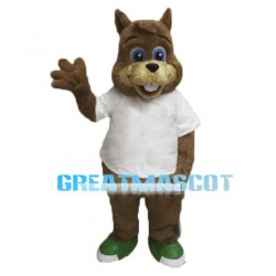 Cute Baby Squirrel Mascot Adult Costume