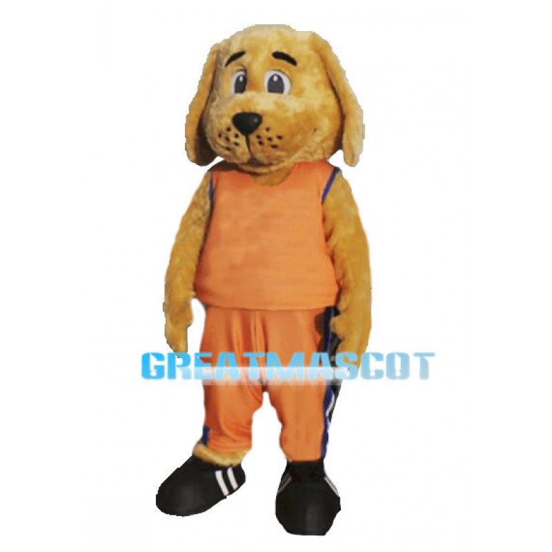 Golden Dog Sports School Mascot Adult Costume