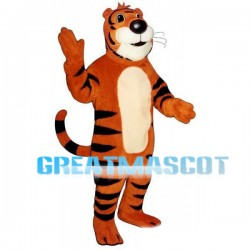 Friendly Male Tiger Mascot Adult Costume