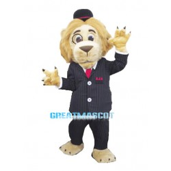 Long Hair Lion Gentleman Mascot Adult Costume
