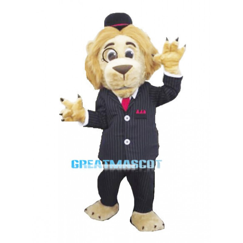 Solicitor Lion Mascot Adult Costume