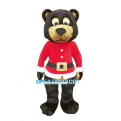 Lovely Christmas Brown Bear Mascot Costume