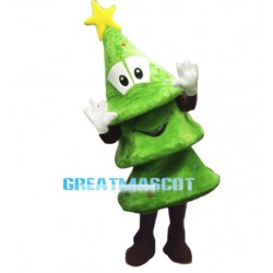 Lovely Cartoon Christmas Tree Mascot Costume