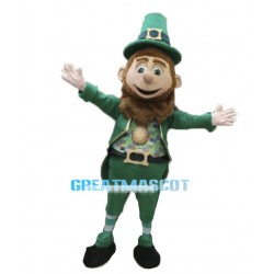 Happy Leprechaun Mascot Costume