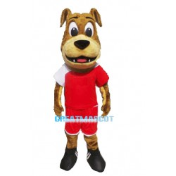 Brown Dog Mascot Costume Animal Fancy Dress