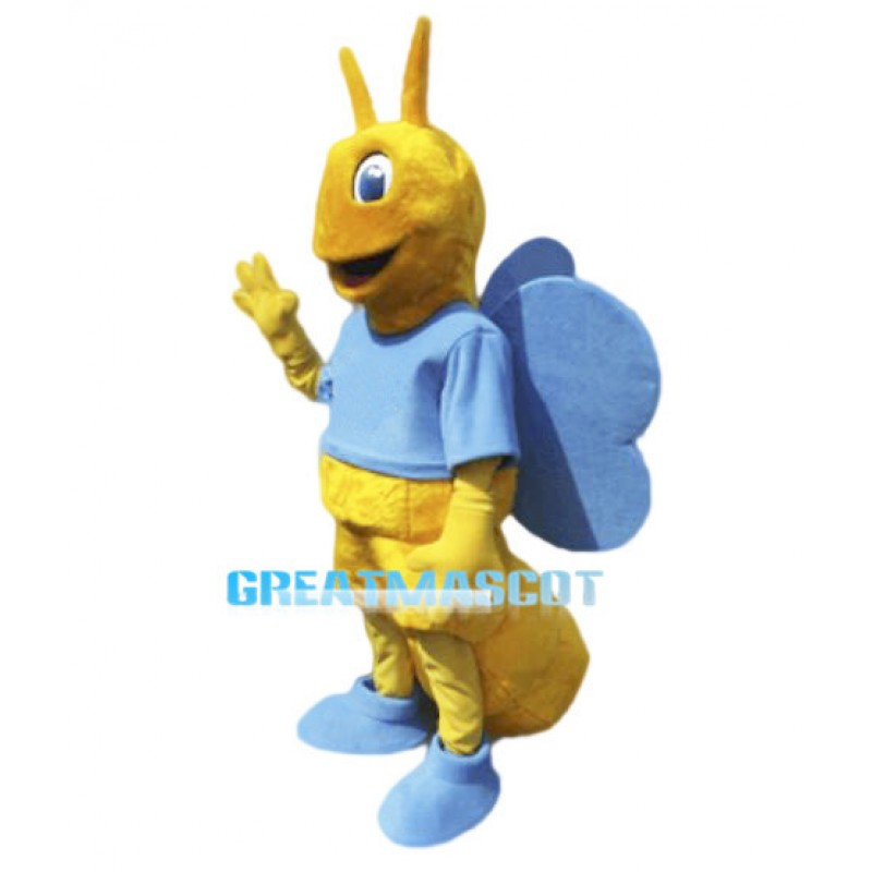Adult Size Blue Wing Bee Mascot Costume