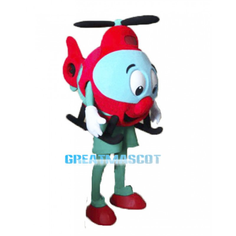 Cute Cartoon Small Red Helicopter Lightweight Mascot Costume