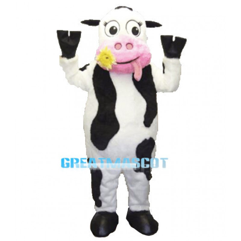 Lovely Cow Mascot Adult Costume