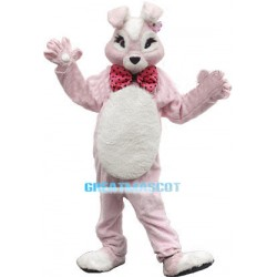 Pink Plush Bunny Mascot Adult Costume
