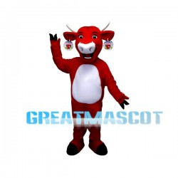 Happy Red Bull Mascot Adult Costume