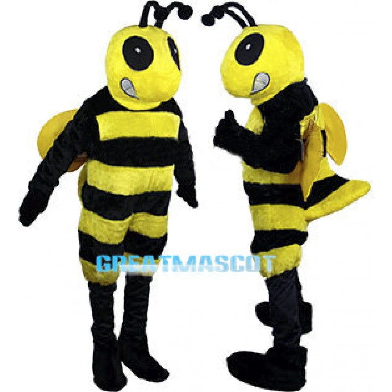 Fierce Bee Mascot Costume Adult Size