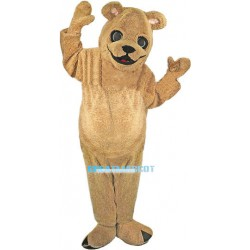 Plush Golden Dog Mascot Costume