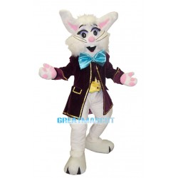 Elegant Wendell Rabbit-Red Mascot Adult Costume