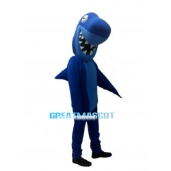 Funny Blue Shark Mascot Adult Costume