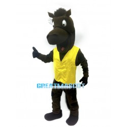 Lovely Brown Horse Mascot Adult Costume