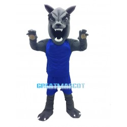 Fierce Power Gray Wolf Mascot Adult Costume
