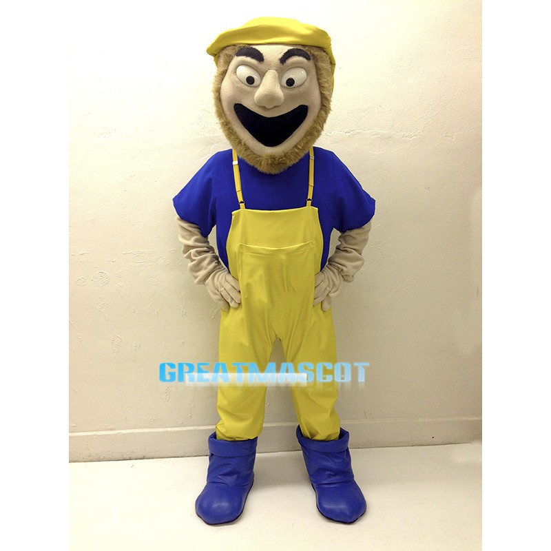 Cheerful Fisherman Mascot Costume