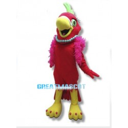 Sexy Red Parrot Mascot Costume