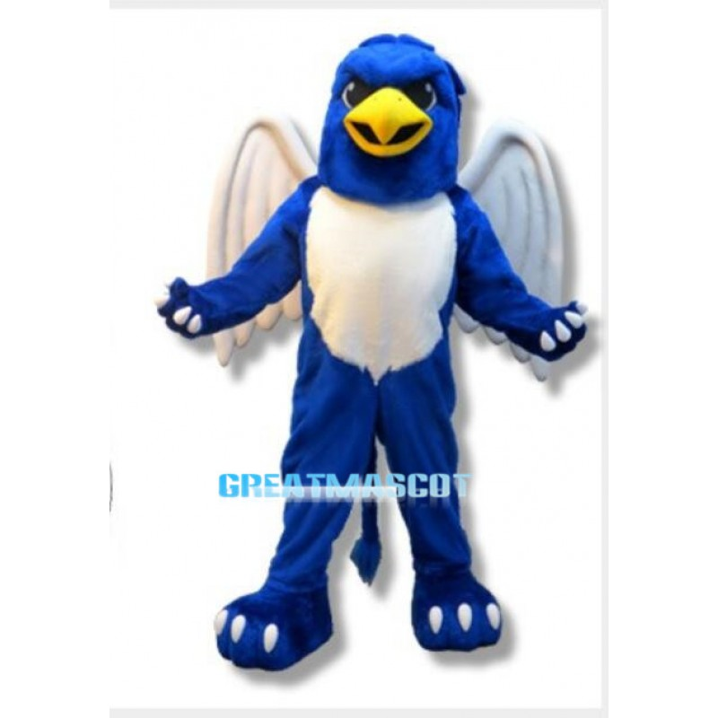 Fierce Blue Griffin Mascot Costume