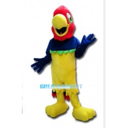 Red Head Colorful Parrot Mascot Adult Costume