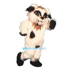 Lovely Dog Long Wool Mascot Costume